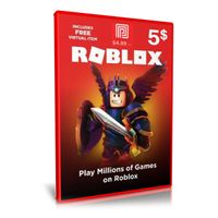 $5.00 Roblox Gift Card Digital Pin Delivery 450 Robux Premium Membership
