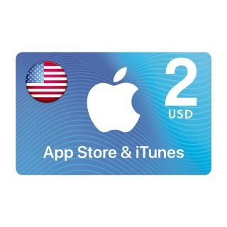 Apple iTunes GIFT CARD $2 USD USA North America APP STORE