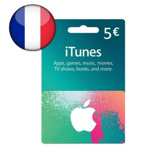 €5.00 iTunes France Euro Balance Apple AppStore