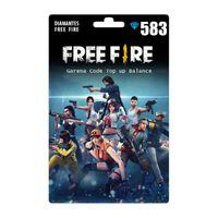 Garena FREE FIRE Diamonds 530 + 53 Bonus Instant Delivery Reload Balance