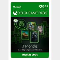 Xbox Game Pass - 3 Month Membership - Xbox One Digital Code Instant Delivery [USE CODE DISCOUNT ON MY PROFILE]