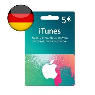 €5.00 iTunes Germany Euro Balance Apple AppStore