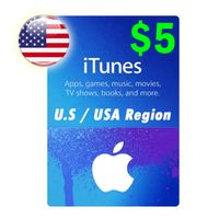 $5 iTunes Apple Store Gift Card Instant Delivery