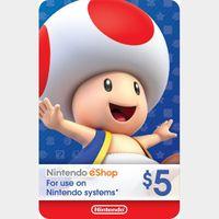 $5.00 Nintendo eShop Auto Delivery US Region