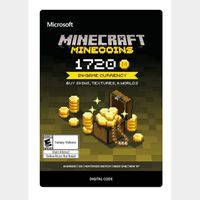 Minecoins Pack 1720 Coins - Xbox One Digital Code - INSTANT DELIVERY
