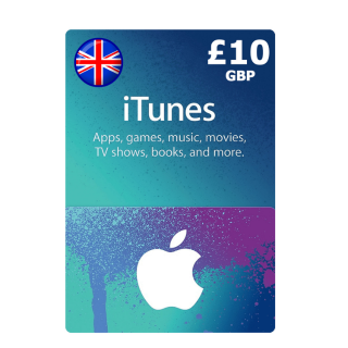 £10.00 iTunes UK Apple Store Giftcard