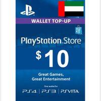 $10.00 PlayStation Store UNITED ARAB EMIRATES - UAE