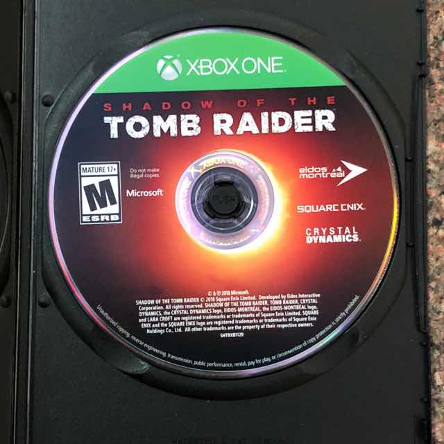 shadow of the tomb raider xbox one disc only 3 shipping