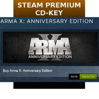 [𝐈𝐍𝐒𝐓𝐀𝐍𝐓] Arma X: Anniversary Edition [Steam\Global]
