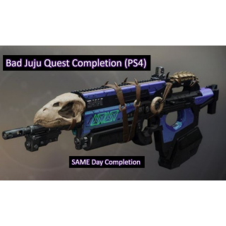 I will complete the Destiny 2 Bad JuJu Quest on PS4