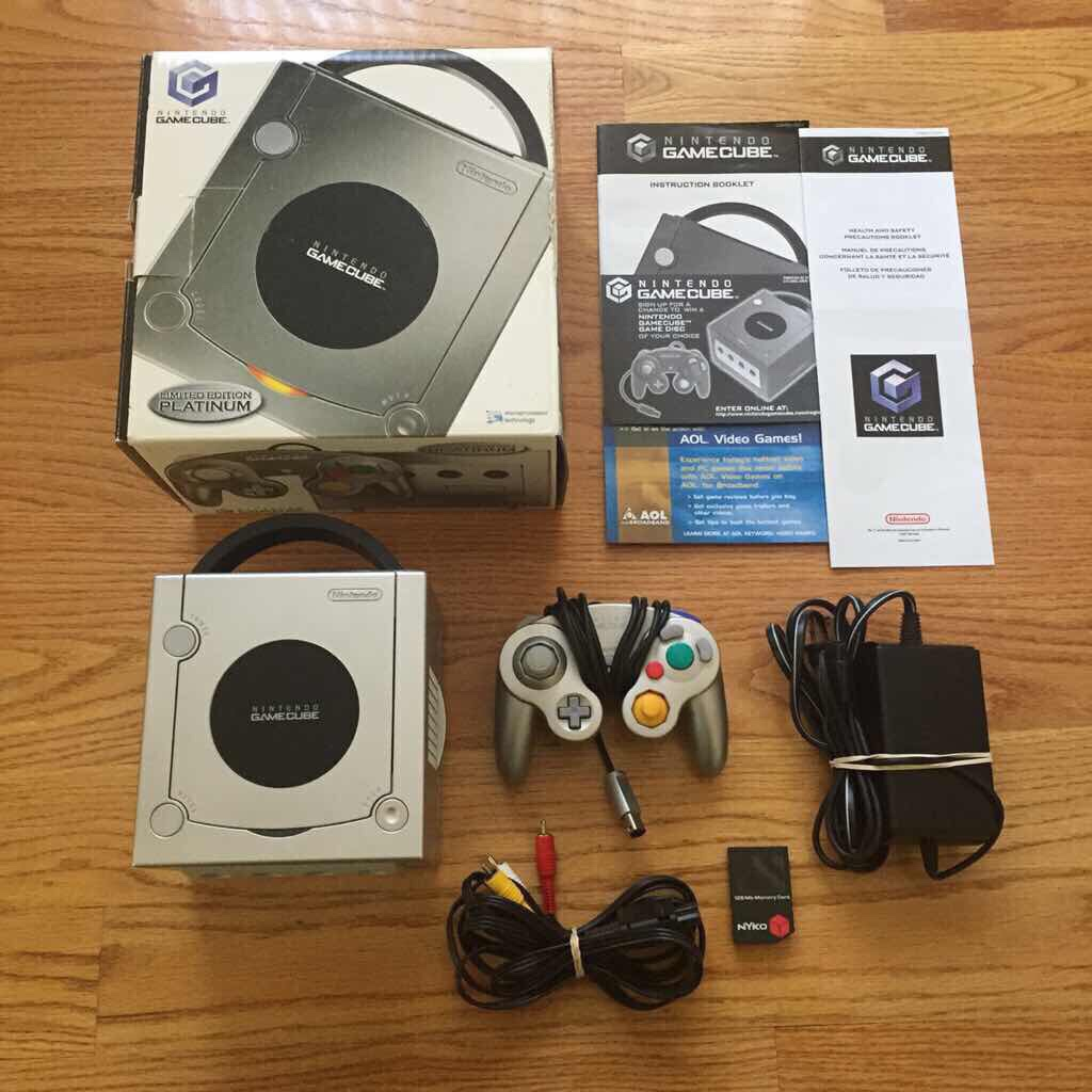 CIB Limited Edition Platinum GameCube Complete with box