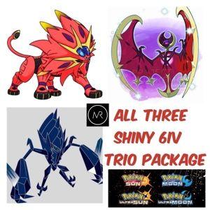 All Three Alolan Event Shiny Legendary Pokemon Ultra Sun Ultra Moon Sun & Moon Nintendo 3DS Alola Alolan Gamefreak