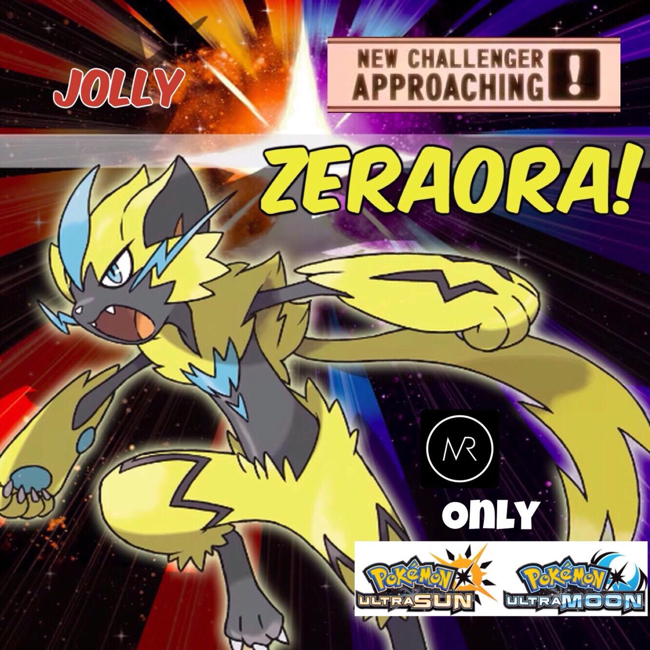 6iv Zeraora Pokemon Ultra Sun Moon 3ds Nintendo Alola Alolan Gamefreak