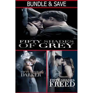 *InstaWatch* Fifty Shades 3-Movie Bundle (Unrated) (VUDU HDX) - READ DESCRIPTION!