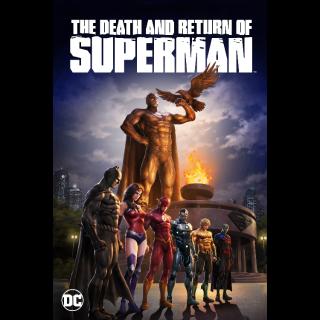 *InstaWatch* The Death and Return of Superman (2019) (VUDU HDX) - READ DESCRIPTION!