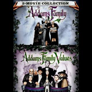 *InstaWatch* The Addams Family (Double Feature) (VUDU HDX) - READ DESCRIPTION!
