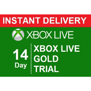 INSTANT DELIVERY | XBOX LIVE GOLD 14 DAY TRIAL DIGITAL CODE |