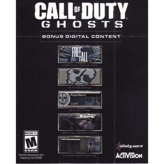 Call of Duty: Ghosts Bonus Digital Content PlayStation 3 PS3 Code Key | 🔑 INSTANT DELIVERY 🔑 |