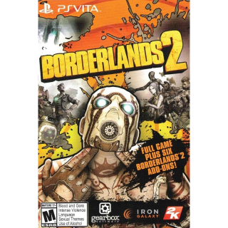 Borderlands 2 FULL GAME + 6 Add On Packs Sony PlayStation Vita Digital Code | 🔑 INSTANT DELIVERY 🔑 |