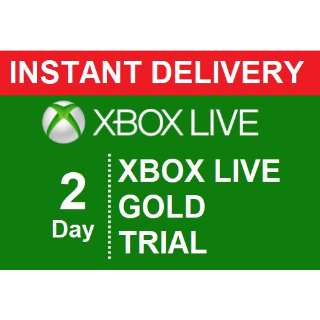 INSTANT DELIVERY | XBOX LIVE GOLD 2 DAY 48 HOUR TRIAL DIGITAL CODE |