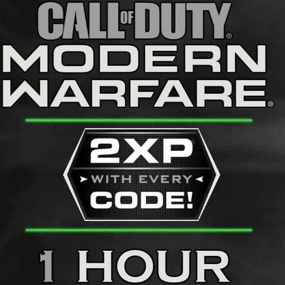 1 Hour Call Of Duty Modern Warfare Double Xp Xbox One