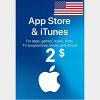 $2.00 iTunes INSTANT DELIVERY