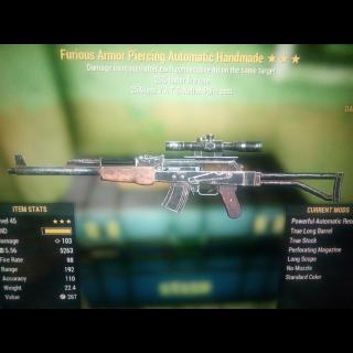 Weapon   Furious FFR VATS handmad