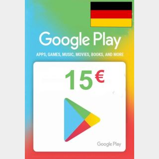 €15.00 Google Play  (Instant Delivery)