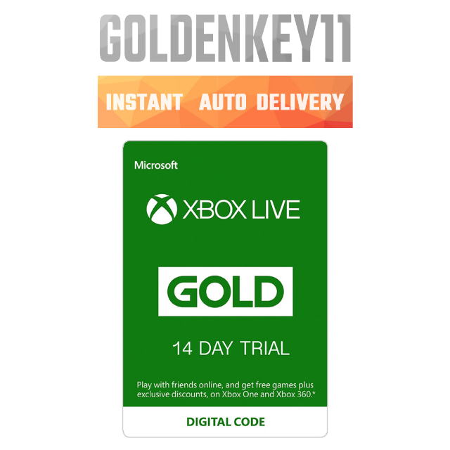 Xbox Live Gold 14 Day Trial Code for Xbox One or Xbox 360 - Instant  Delivery - Xbox Live Gold Gift C     - Gameflip