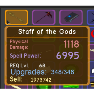 Gear | DQ - Staff Of The Gods