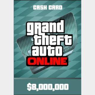 PC GTA V Online: 8 MILLION Megalodon Cash Card INSTANT DELIVERY