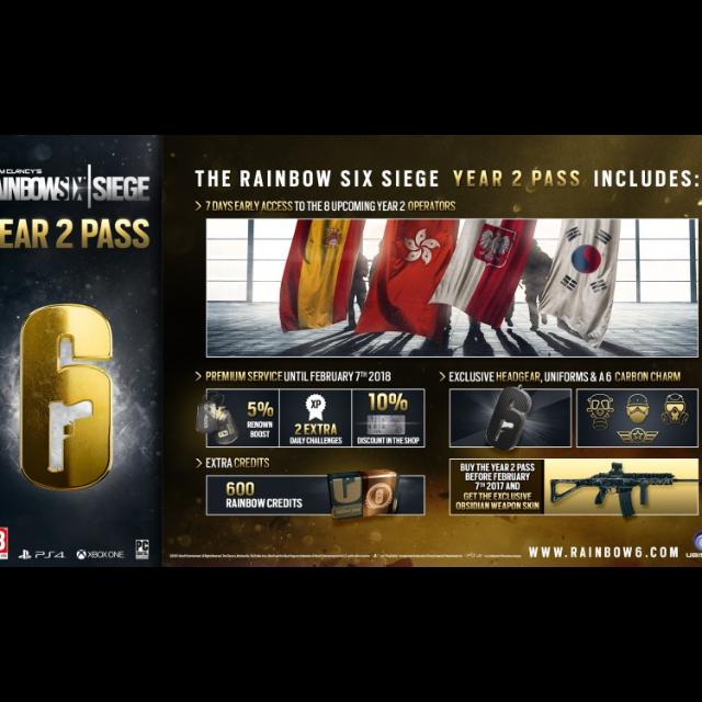 Tom Clancy's Rainbow Six Siege Year 2 Season Pass Playstation 4