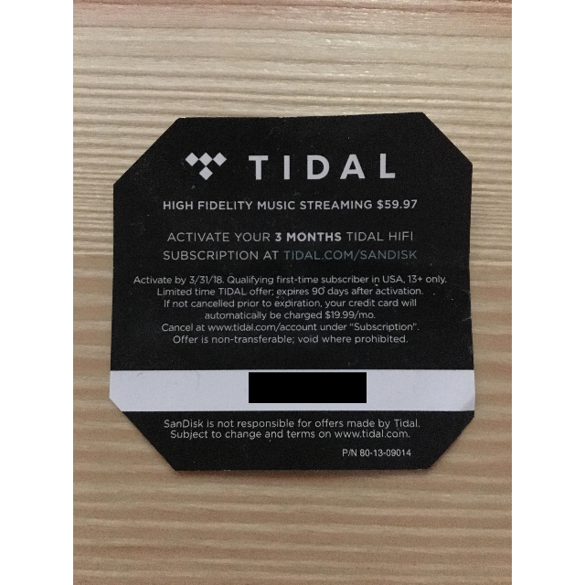 Tidal 3 Months Subscription - Other - Gameflip