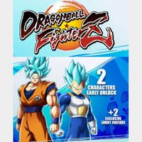 Dragonball Fighter Z Unlock SSGSS Goku/Vegeta Early DLC Playstation 4