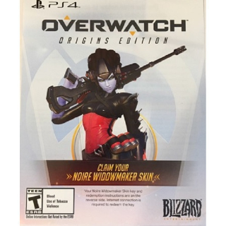 Overwatch Origins Noire Widowmaker Skin DLC Playstation 4