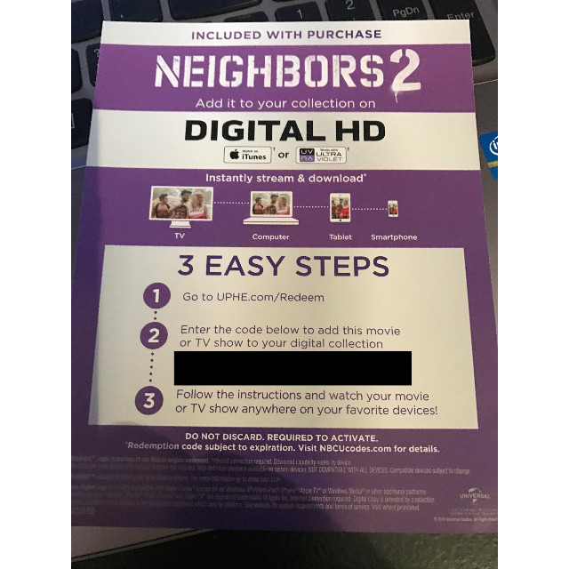 Neighbors 2: Sorority Rising Digital HD UV Ultraviolet Code - Digital