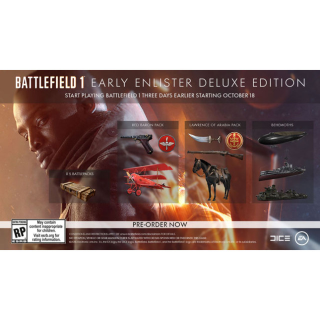 Battlefield 1 Early Enlister Deluxe Edition DLC Xbox One