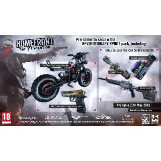 Homefront The Revolution Revolutionary Spirit Pack DLC PS4