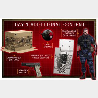Metal Gear Solid V 5: The Phantom Pain Day 1 DLC Xbox 360