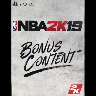 NBA 2K19 Pre-Order Bonus DLC PS4