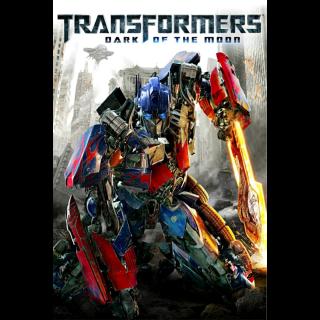 Transformers: Dark of the Moon|HDX|Vudu Redeem