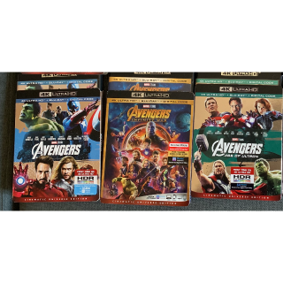 Avengers Trilogy 4k UHD and Bluray
