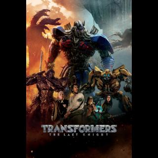 Transformers: The Last Knight HD Paramountmovies.com (vudu/itunes)