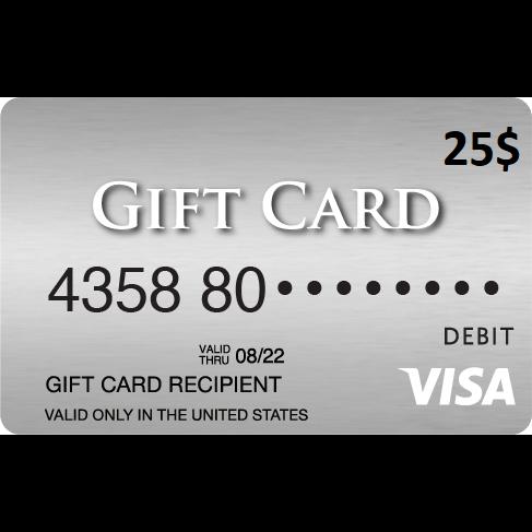 25 vanilla visa gift card usa only - Visa Gift Card