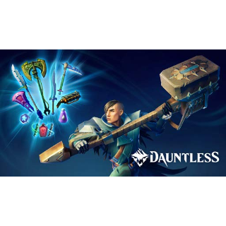 Dauntless Bundle: 7 Weapon Skins + Coins + Potions + Premium dye (Global Code/ Instant Delivery)