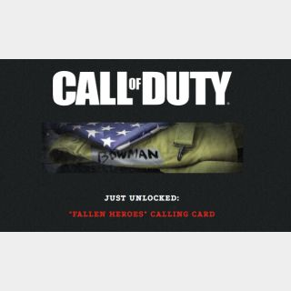 """Call of Duty Black Ops: Cold War - """"RIP Bowman""""/""""Fallen Heroes"""" Calling Card (Global Code/Battle.net OR XB1 OR PS4 version)"""