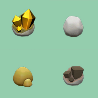 Resource | Gold Nuggets Clay Stones