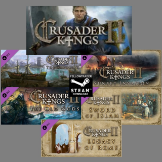 Crusader Kings II + 5 DLCs! Steam - INSTANT