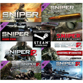 Sniper Ghost Warrior 1 & 2 Trilogy + 2 DLC Bundle! - Steam - INSTANT DELIVERY