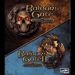 Baldur's Gate Enhanced Edition Pack: 1 + 2 - Steam - INSTANT